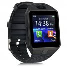 DZ09 Smart Watch Phone Make/Receive Calls Pedometer Sleep Monitor Sedentary Remind Remote Cam Black