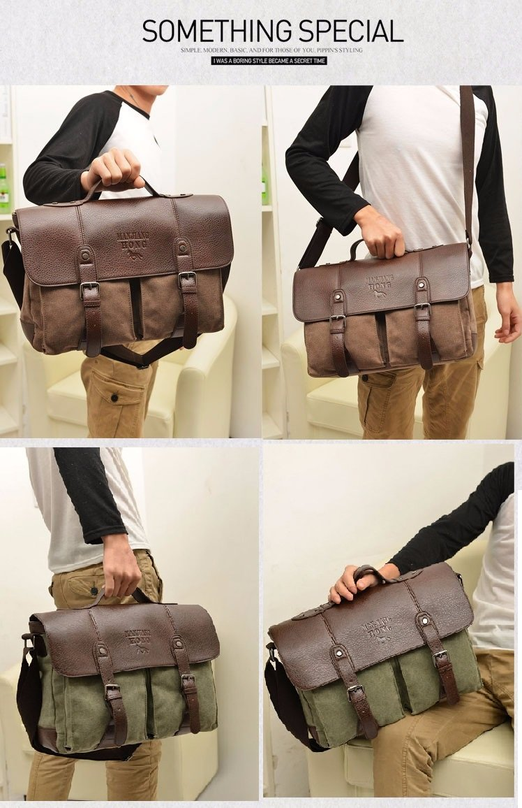 2017 Men Canvas Vintage Casual Business Shoulder/Messenger Bag
