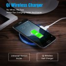 Universal Q1 Wireless Charger Charging Pad Mobile Phone Adapter Dock Station - Black