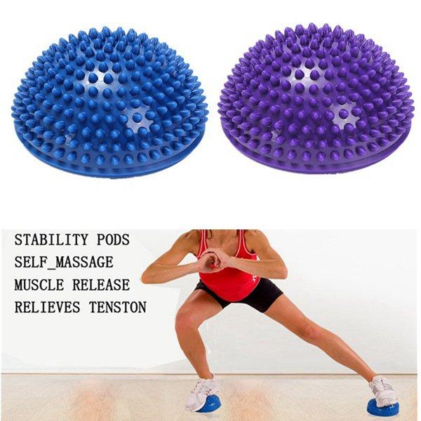 16cm Half Round Yoga Balance Spiky Massager Ball Stepping Stone Foot Sole Trigger Point Hemisphere
