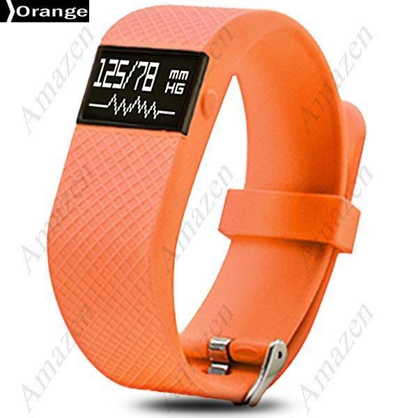 TW68 Smart Fitness Health Tracker Blood Pressure Heart Rate Monitor Sports Bracelet BTH 4 - ORANGE