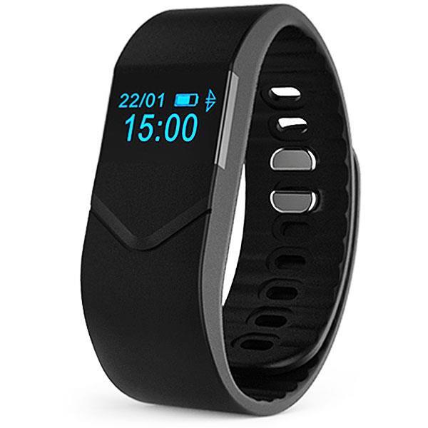 Pro M5 Smart Bracelet Fitness Tracker w Blood Pressure Oxygen Heart Rate Fatigue Monitor - Black
