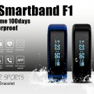 NO.1 F1 Smart Bracelet Heart Rate Monitor Calorie Sleep Pedometer Remote Cam
