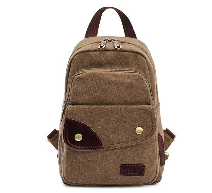 KAUKKO FJ75 6L Multi-function Women Canvas Backpack - Khaki