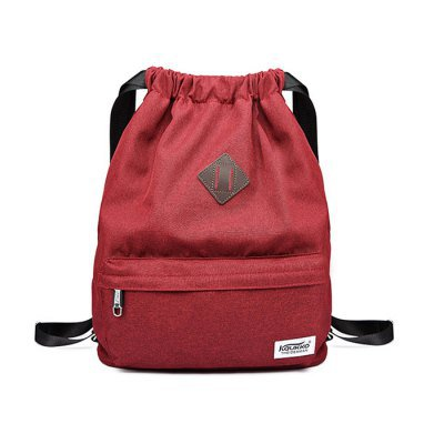 KAUKKO 21.6L large capacity Unisex Drawstring Backpack Bag - Red