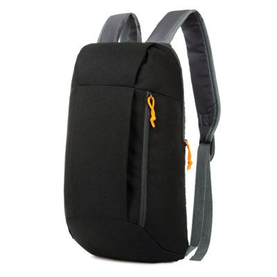 Water-Resistant Nylon 10L Ultra-Light Leisure Sports Laptop Backpack - BLACK
