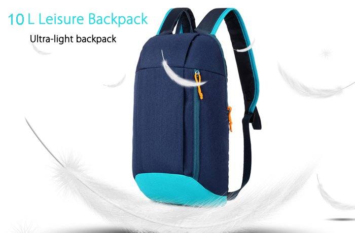 Water-Resistant Nylon 10L Ultra-Light Leisure Sports Laptop Backpack - Blue