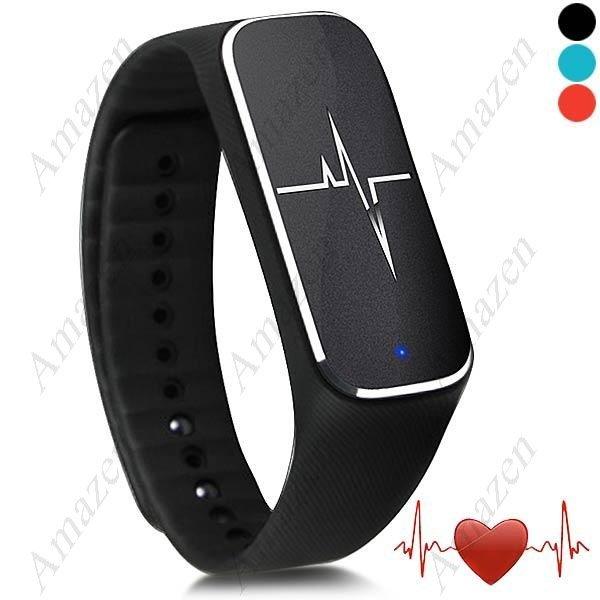 37° L18 Smart Fitness Tracker Blood Pressure Heart Rate Monitor Mood Fatigue Monitor - Black
