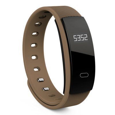 Latest Model! QS80 Smart Bracelet Fitness Tracker Blood Pressure Heart Rate Monitor - Coffee