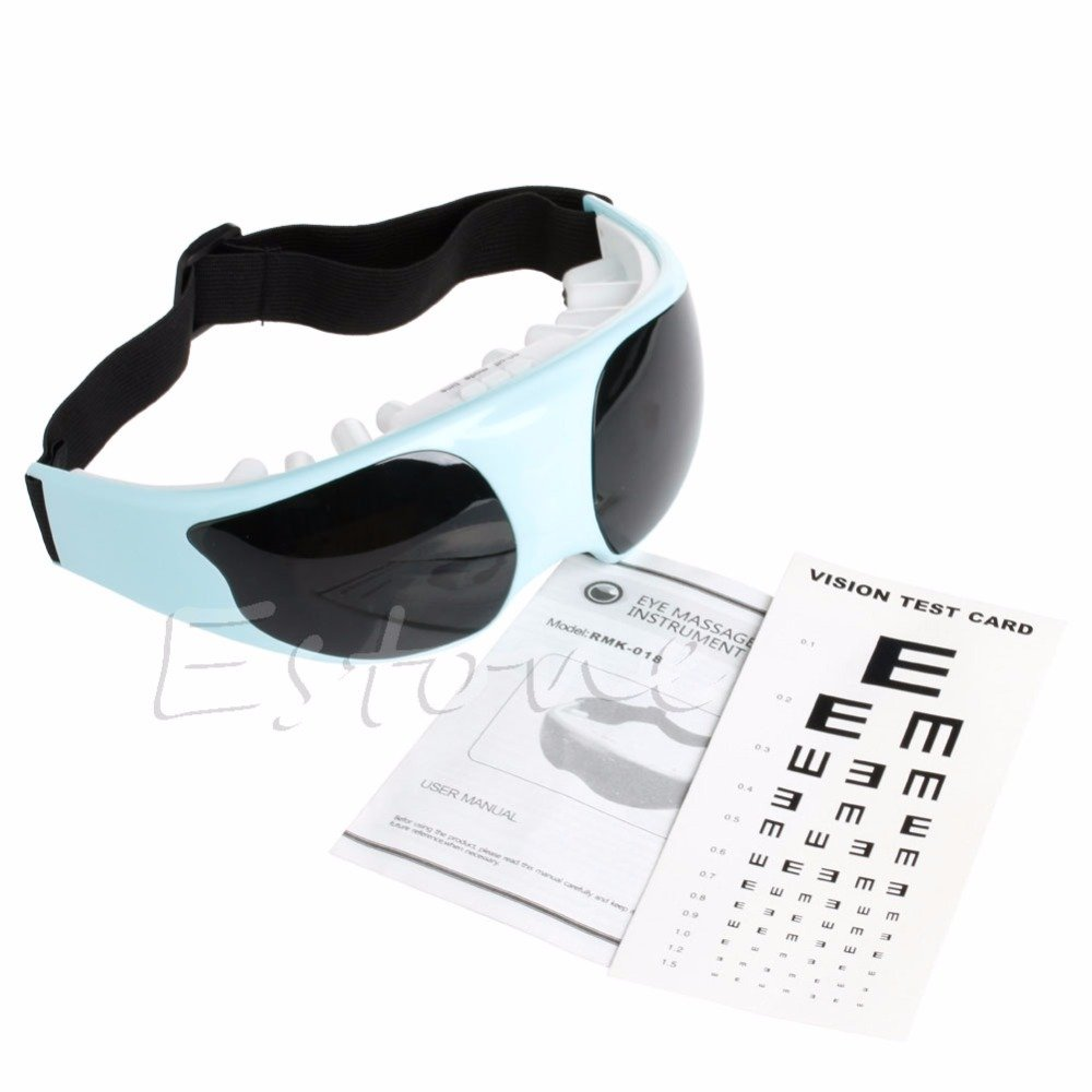 Electric Eye Care Relax Massager Vibration Magnet Therapy - Blue/White