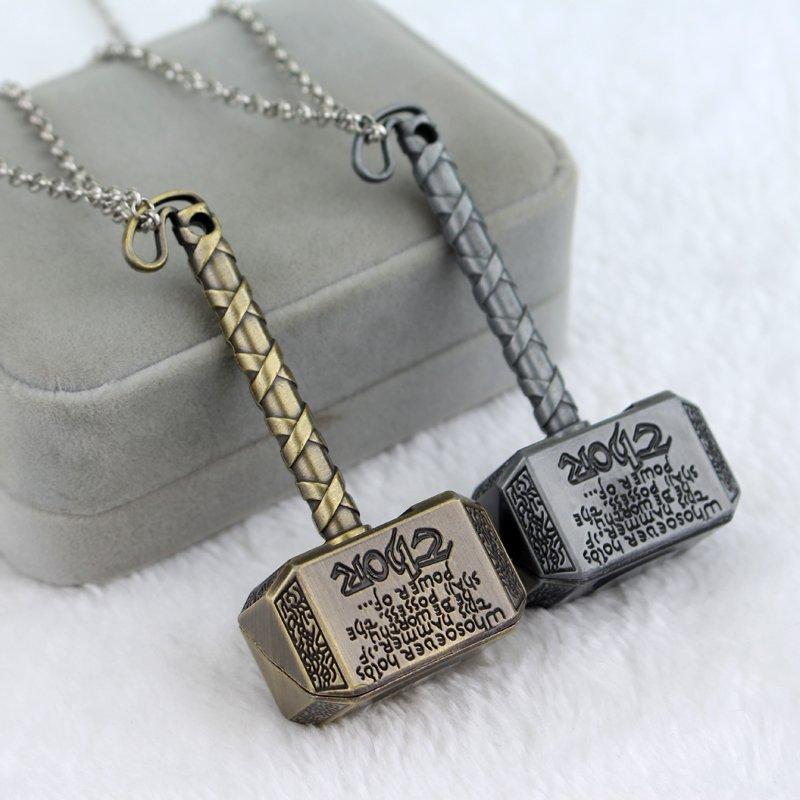 Thor Hammer Necklace Exquisite Pendant Necklace - 2 PC