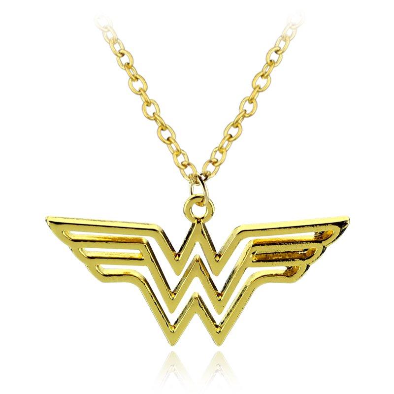 DC Wonder Woman Logo Pendant Necklace - Gold/Silver