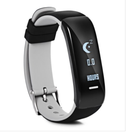 New! P1 Smart Activity Sports Bracelet Heart Rate Blood Pressure Stopwatch - Grey