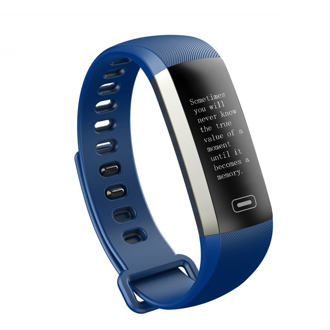 2017 LATEST MODEL! M2S PLUS Heart Rate Blood Pressure Activity Tracker-Smart Bracelet - Blue