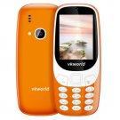 Fun! 2.4inch 3D Screen 1450mAh 2.0 MP Camera FM Dual SIM Card Dual Standby Moblie Phone - Orange