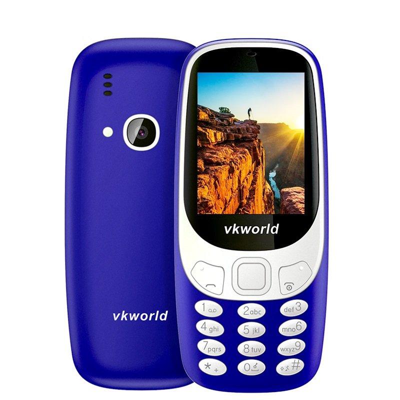 Fun! 2.4inch 3D Screen 1450mAh 2.0 MP Camera FM Dual SIM Card Dual Standby Moblie Phone - Blue