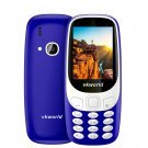 Fun! 2.4inch 3D Screen 1450mAh 2.0 MP Camera FM Dual SIM Card Dual Standby Moblie Phone - Blue