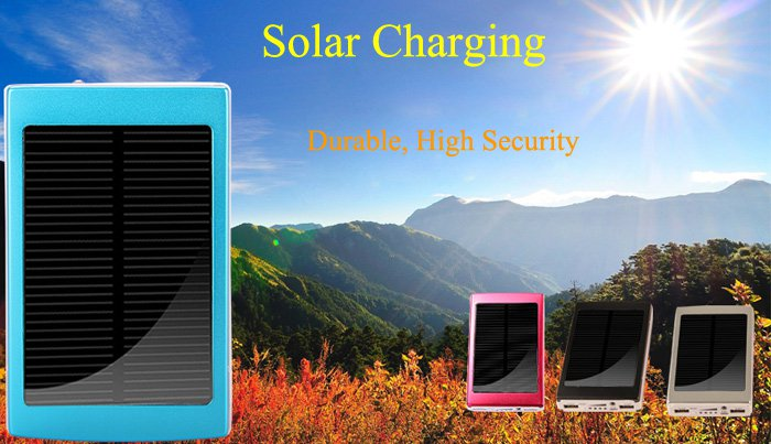 30000mAh Dual-USB Interface Solar Power Battery Charger for Mobile Phones