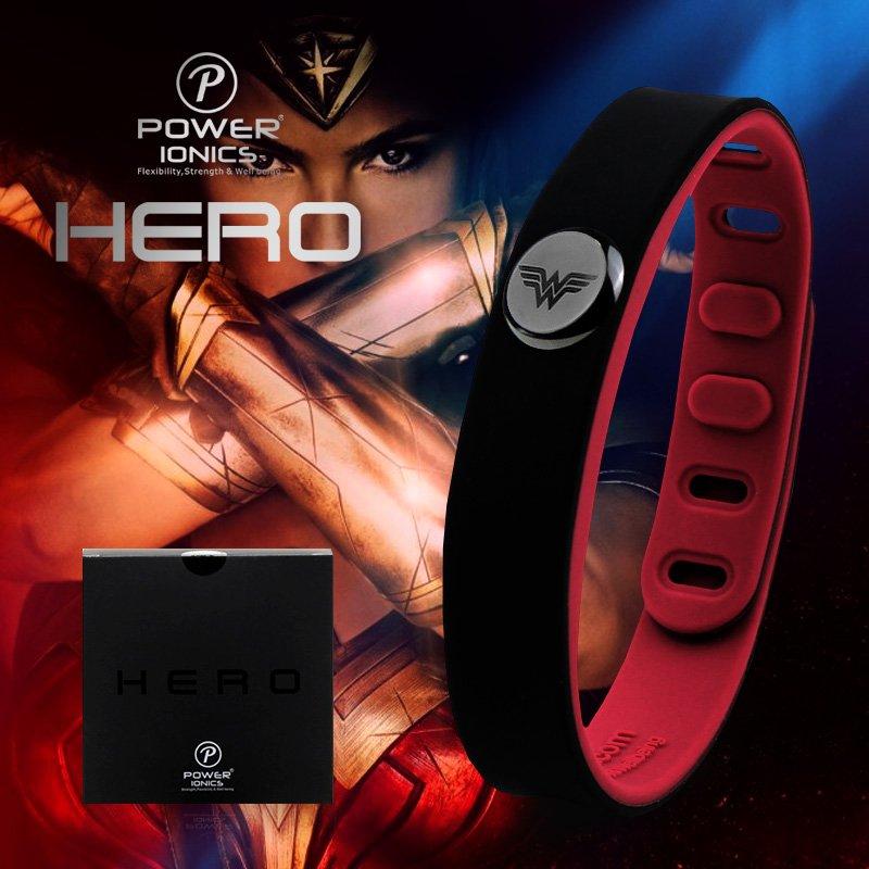 Super Hero Power Ionics 3000 ions IDEA BAND Sports Titanium Energy Bracelet - WONDERWOMAN!