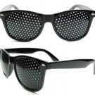 Anti Fatigue Vision Pinhole Stenopeic UV400 Eye Care Sunglasses Improve Eyesight