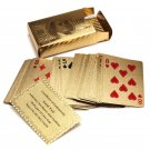 Pure 24 Carat Gold Foil Plated Poker Cards  Certified 99.9% Ben Franklin Design