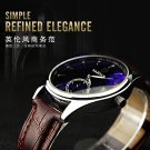 YAZOLE Men Casual Luminous Hands Calendar Leather Quartz Watch