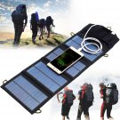Portable Solar Panel Outdoor Travel Emergency Foldable Charger Power Bank 5V 7W with USB Port