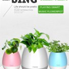 Smart Music Flowerpot Wireless Bluetooth Speaker with LED Night Light USB Charging