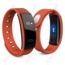 QS80 Smart Bracelet Fitness Tracker Blood Pressure Heart Rate Monitor - Orange