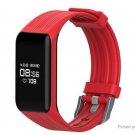 "MGCOOL 3 Fitness Tracker 0.66"" OLED IP68 Smart Bracelet Heart Rate Monitor Pedometer Sleep - Red"