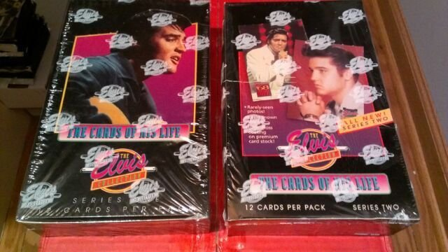 ELVIS PRESLEY 1992 THE CARDS OF HIS LIFE-SERIES 1 AND 2 SEALED BOXES FROM A CASE