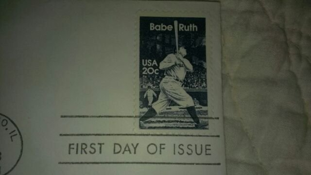 BABE RUTH-RARE STAMPED ENVELOPE LIMITED COLLECTIBLE-FIRST DAY OF ISSUE 1983