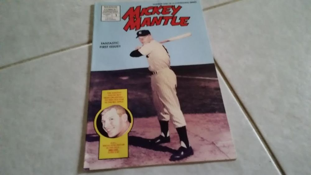 1991 MICKEY MANTLE FIRST EDITION COMIC BOOK + FREE MICKEY MANTLE ROOKIE REPRINT