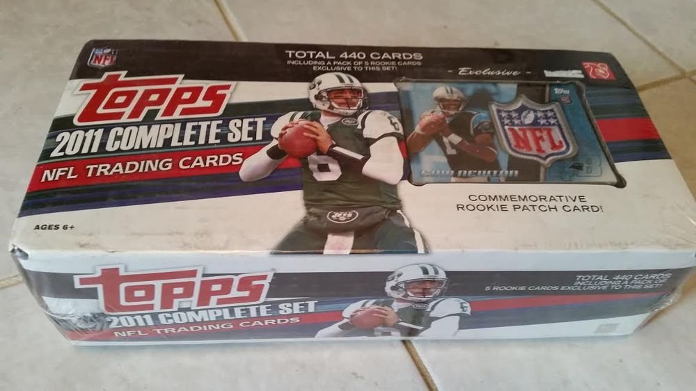 2011 TOPPS COMPLETE FOOTBALL SET CARDS+1 PACK OF ROOKIE CARDS +CAM NEWTON PATCH