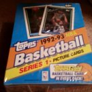 1992-93 TOPPS BASKETBALL CARD BOX SER.1 POSSIBLE JORDAN CARDS-INSERTS