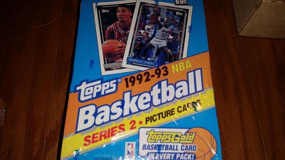 1992-93 TOPPS BASKETBALL CARD BOX SER.2 POSSIBLE JORDAN CARDS+SHAQ GOLD ROOKIE