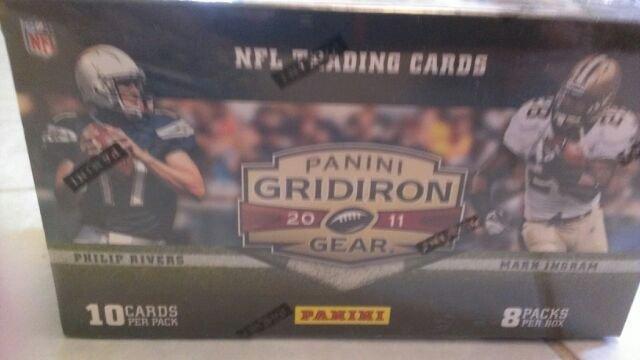 2011 PANINI GRIDIRON GEAR FOOTBALL CARD QTY.2 BOXES-INSERTS,POS,KAEPERNICK-GEMS