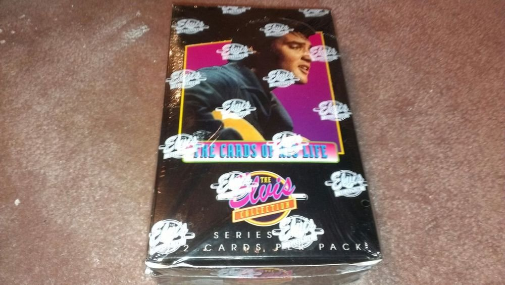 ELVIS PRESLEY 1992 THE CARDS OF HIS LIFE-SER.1 SEALED TRADING  CARD BOX-INSERTS