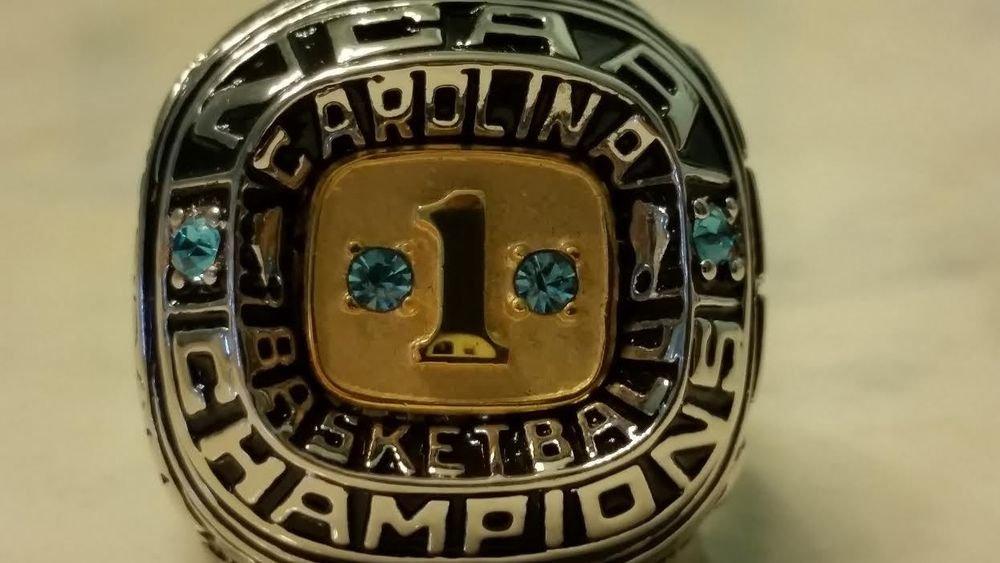 2013 UPPER DECK MASTER COLL. MICHAEL JORDAN UNC REPLICA NCAA CHAMPIONSHIP RING