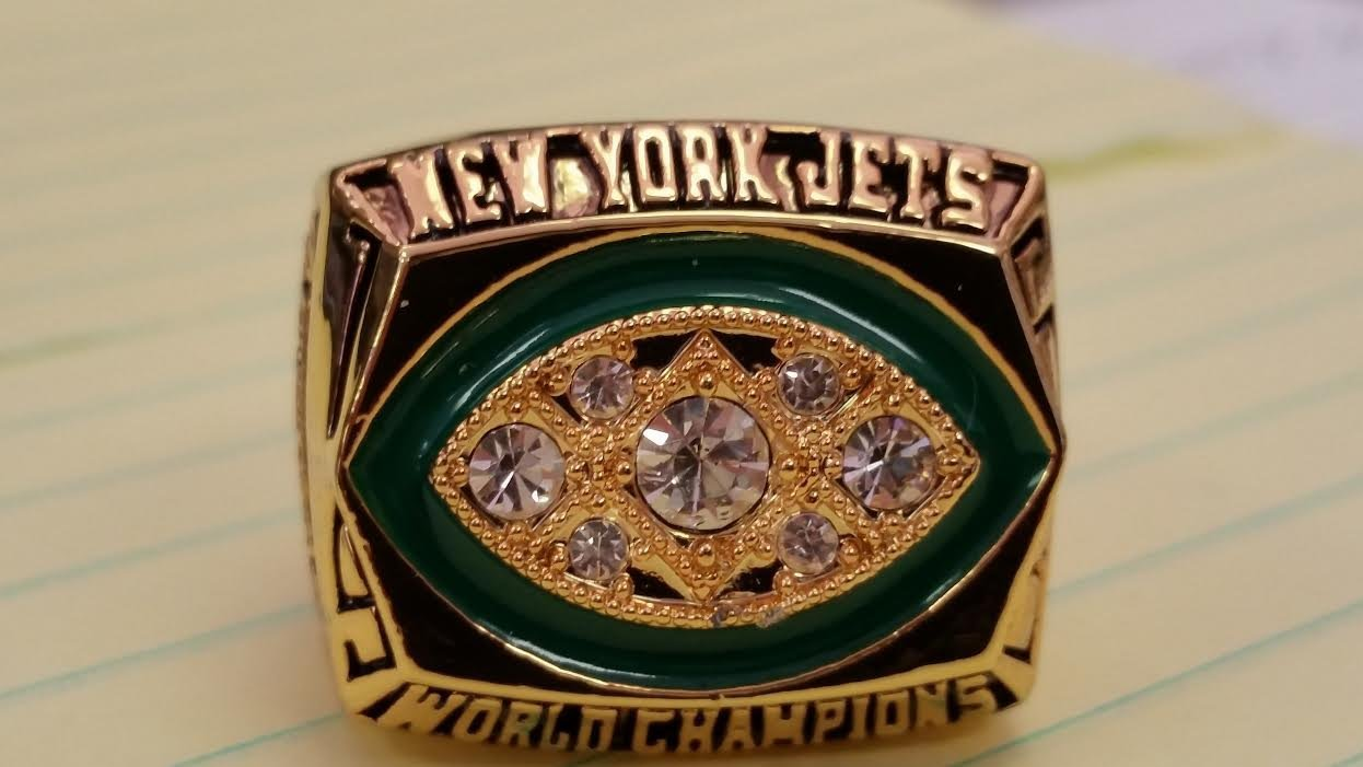 1968 NEW YORK JETS HIGH QUALITY CHAMPIONSHIP RING