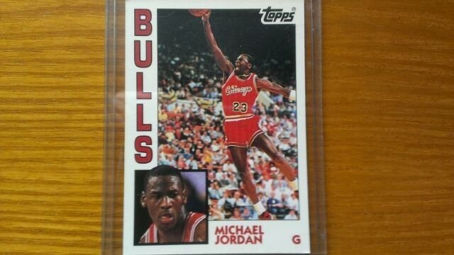 1981-91 TOPPS BASKETBALL-MICHAEL JORDAN 1ST TOPPS ROOKIE CARD+GMA10 GRADED CARD