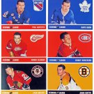 1966-67 IN THE GAME PARKHURST HOCKEY ORIGINAL 6 SCORING LEADERS RARE REPRINT,SET