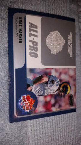 2000 BOWMANS BEST FOOTBALL CARD KURT WARNER RARE ALL PRO GAME WORN JERSEY#KW-QB