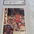 1981-91 TOPPS ARCHIVES BASKETBALL GOLD MICHAEL JORDAN 1ST TOPPS ROOKIE GRADED 10