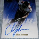 2001 TOPPS FOOTBALL  CHAD JOHNSON ROOKIE AUTOGRAPH INSERT CARD#TA-CJ