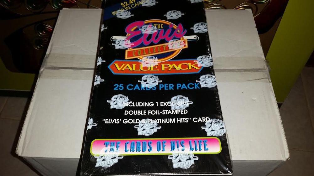 1993 ELVIS PRESLEY- RARE JUMBO PACK TRADING CARD BOX-1 INSERT PER PACK-GOLD PLAT