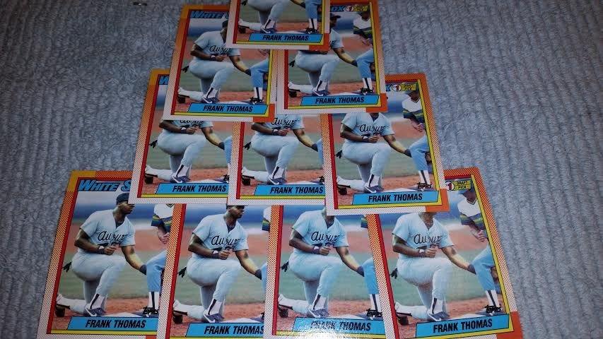 1990 TOPPS CHICAGO WHITE SOX FRANK THOMAS ROOKIE BASEBALL CARDS QUANTITY 5