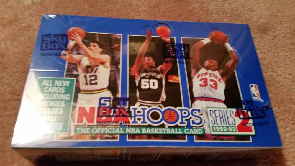 1992-93 HOOPS BASKETBALL SER.2 SEALED BOX 36 PACKS-POSS. SHAQ ROOKIES AND AUTO-