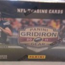 2011 PANINI GRIDIRON GEAR FOOTBALL CARD BOX -POSS,KAEPERNICK-NEWTON-GEMS-ROOKIES