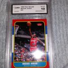 1986 FLEER LEGACY GOLD RARE HALL OF FAME ED.MICHAEL JORDAN ROOKIE CARD GRADED 10